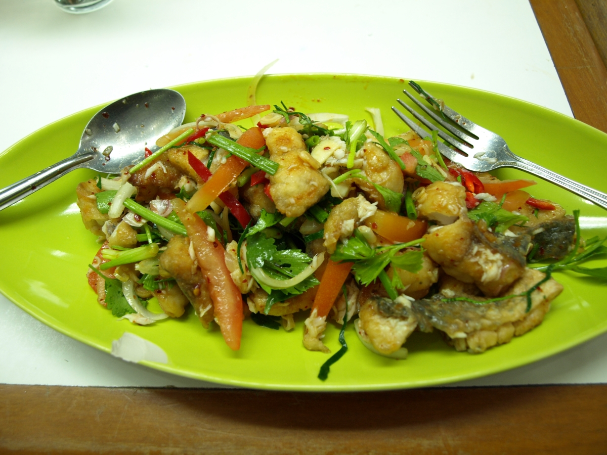 Thai Spicy Deep Fried Fish Salad
