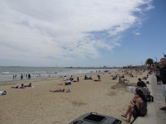St. Kilda Beach © Life Love and Yoga 2013