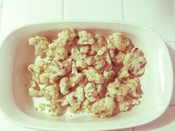 roasted cauliflower- voila!